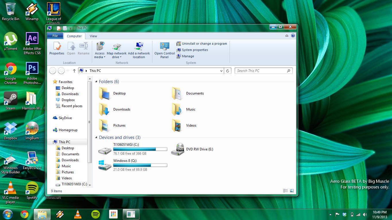 windows aero скачать для windows 8.1