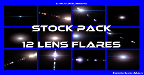 12 Lens Flares Stock Pack