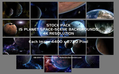 15 Space and Planet Backgrounds - Stock Pack