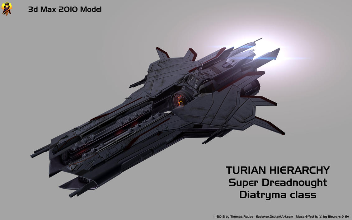 Turian Super Dreadnought 3d Max 10 Model By Euderion On Deviantart