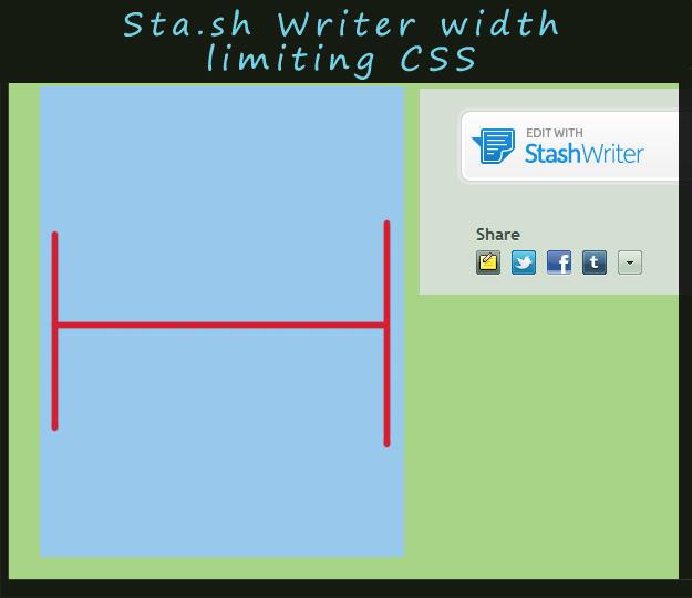 Sta.sh writer width limiting CSS by Feniiku