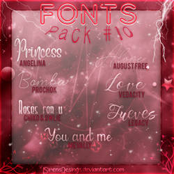 ~.Pack de Fonts #10 by ISirensDesigns