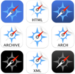 iOS style Safari icons