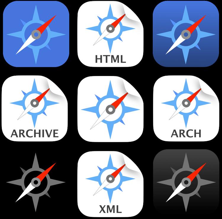 iOS style Safari icons by ChilliTrav