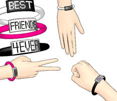 MMD BFF bracelets + Download by Aira-Melody