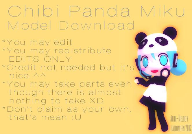Chibi Panda Miku by Aira-Melody