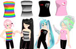 MMD Strapless tops + Download