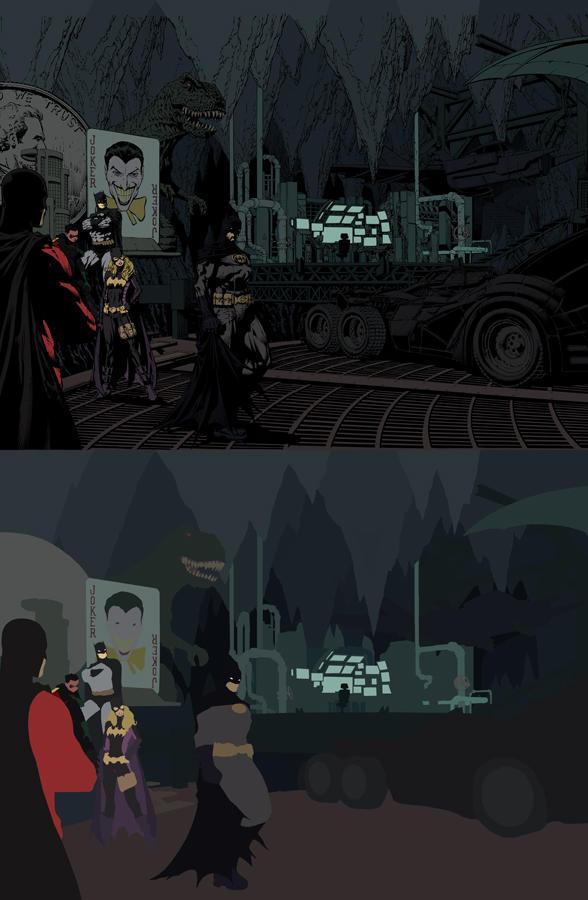 Batman spread Flats by Eddy-Swan