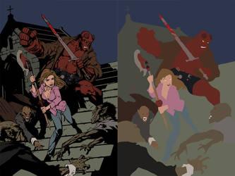Buffy Hellboy flats by Eddy-Swan-Colors