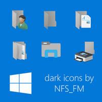 Windows 10 dark default folders by NFSFM