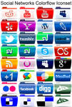 Social Networks Colorflow Iconset