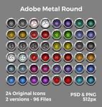 Adobe Metal Round