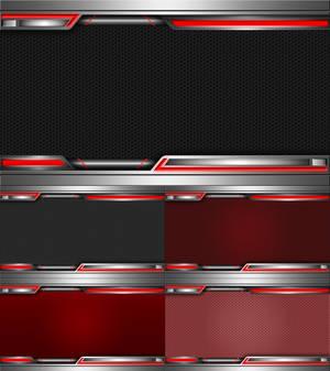 Domination Dark Red Wallpaper Set