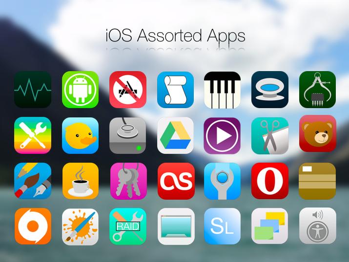 Assorted iOS7 / iOS8 Icons for OS X by BlackVariant on