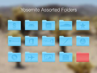 Assorted OS X Yosemite (10.10) Folders by BlackVariant