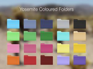 Yosemite Coloured Folders
