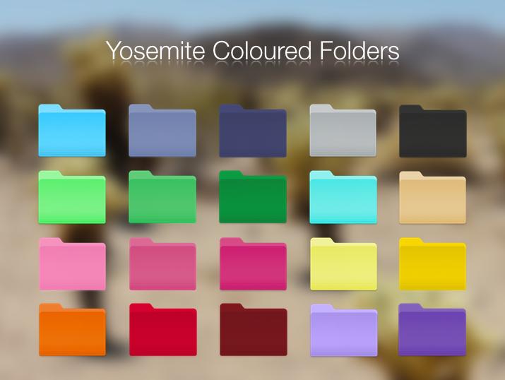yosemite coloured folders by blackvariant on deviantart. Black Bedroom Furniture Sets. Home Design Ideas
