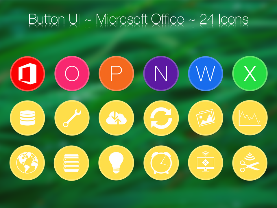 Button UI ~ Microsoft Office Apps