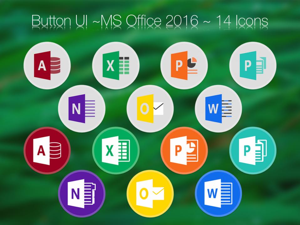 Button UI ~ Microsoft Office 2016