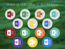 Button UI ~ Microsoft Office 2016 by BlackVariant