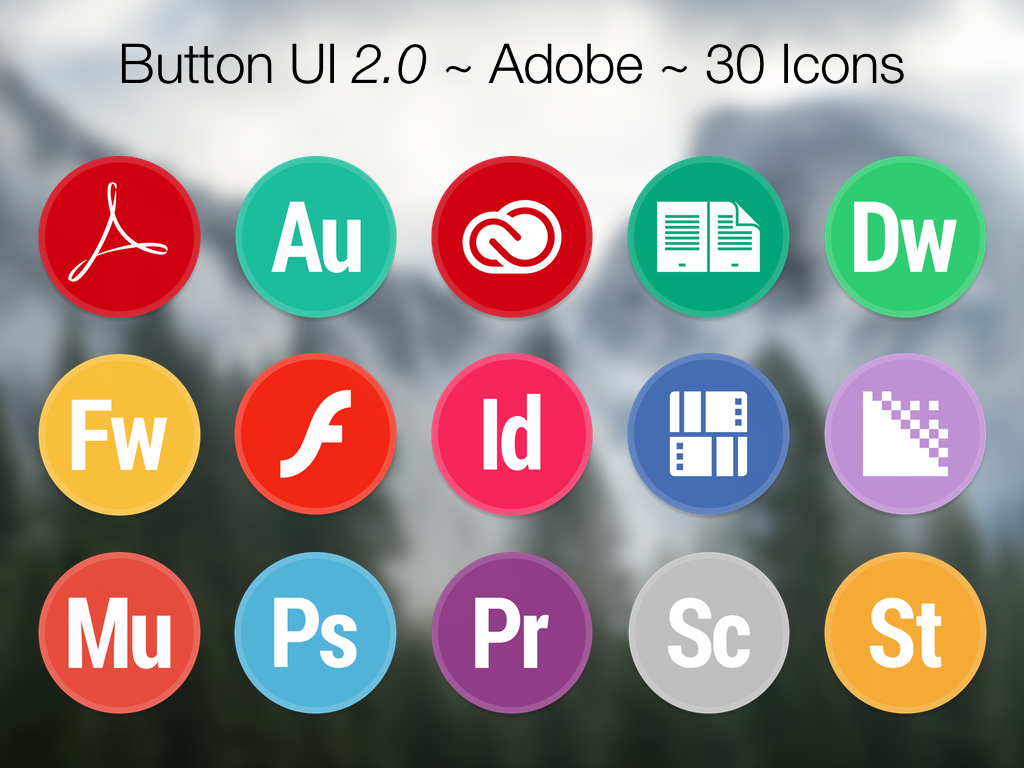 Button UI 2.0 ~ Adobe by BlackVariant