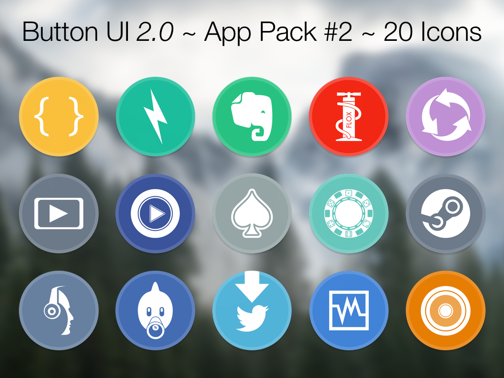 Button UI 2.0 ~ App Pack #2