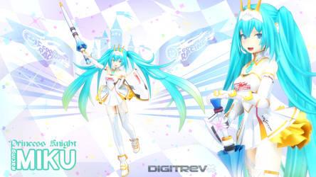 Princess Knight Racing Miku 2015 MMD by Digitrevx