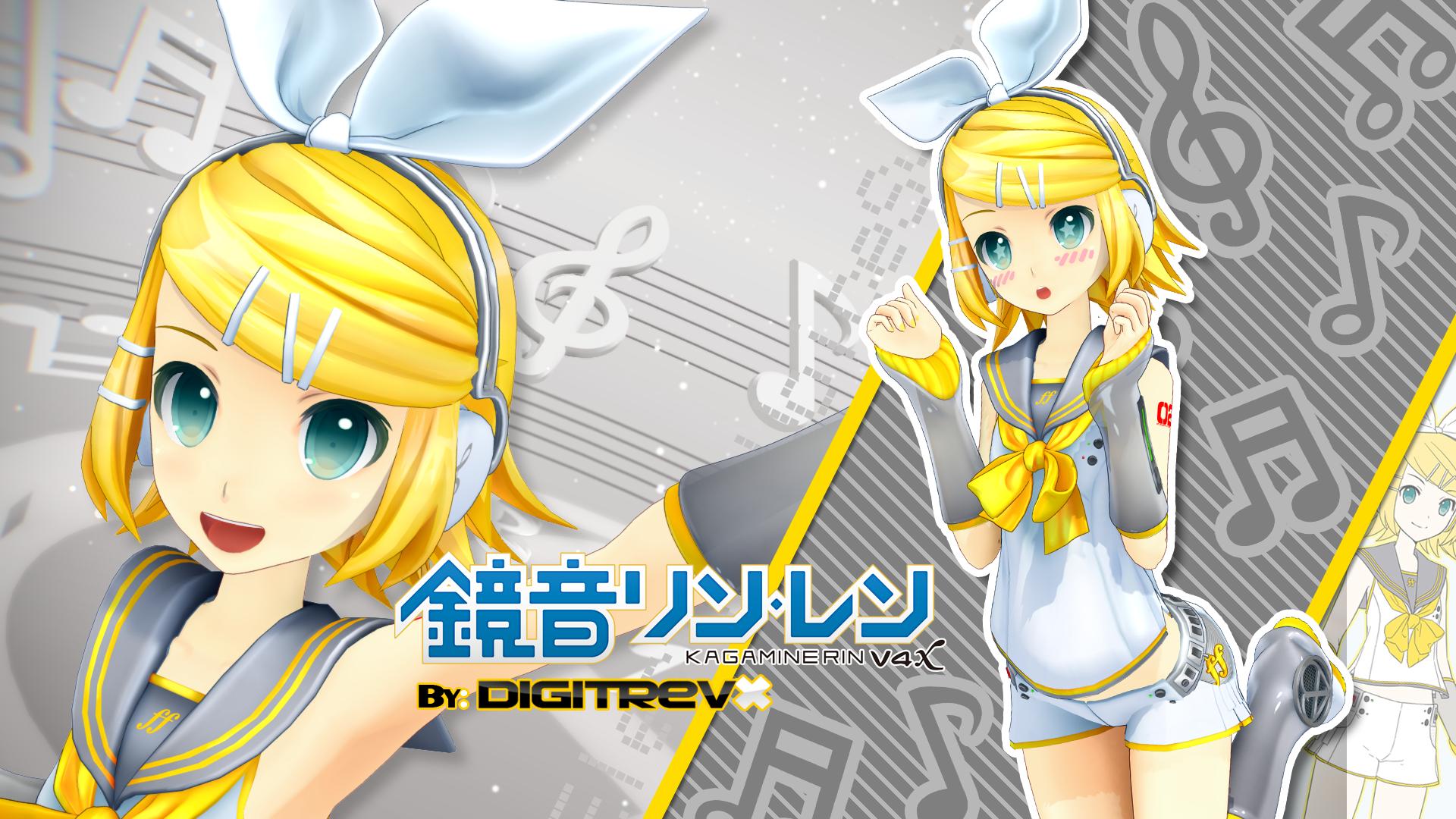Kagamine Rin V4x Model By Digitrevx On Deviantart