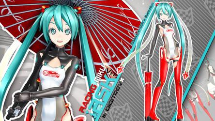 Racing Miku RSK Ver. MMD Release by Digitrevx