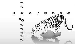Snow Tiger PS3 Theme