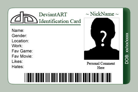 DeviantART ID Card Template By Etorathu ...  Membership Card Template