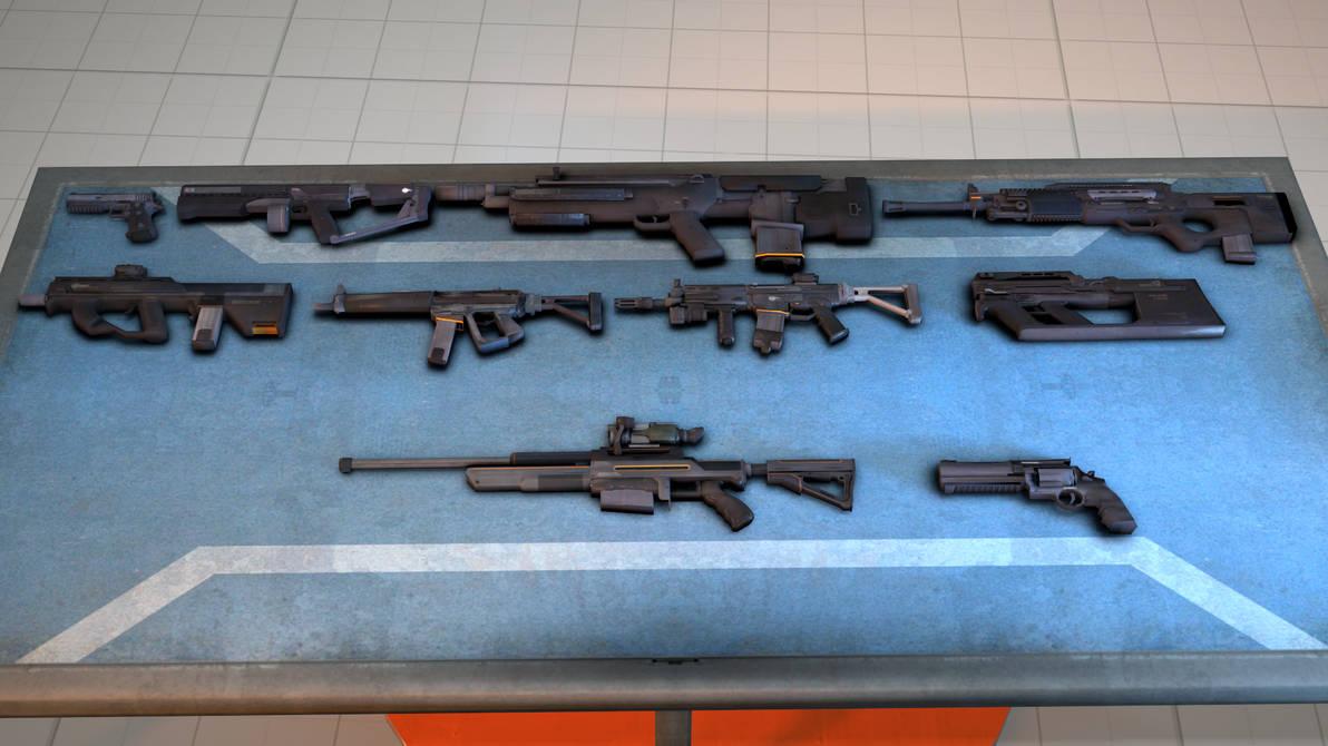 DL]Blacklight: Retribution S1 weapon pack (SFM) by Universalcadia64