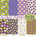 Free Floral Digital Papers