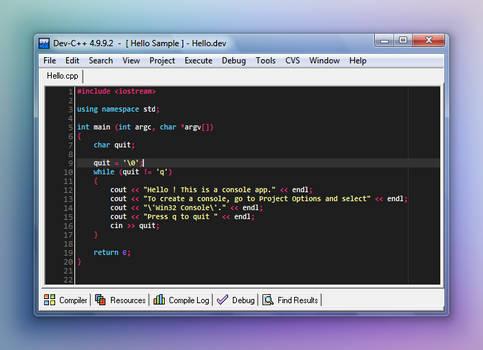 Monokai theme for Dev-C++