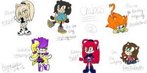 Sonic OC chibis