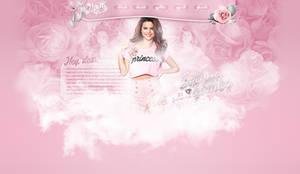 Selena Gomez princess psd header by iamszissz