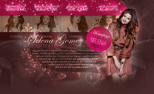 Selena Gomez choco psd header by iamszissz