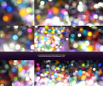 Colorful party bokeh textures