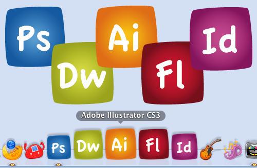 Adobe CS3 Comic Icons by Lo2oP