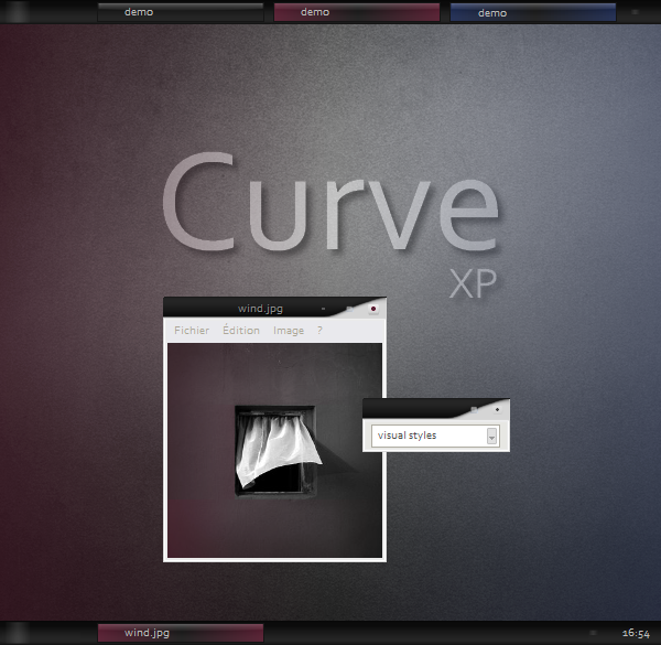 Curve visual style