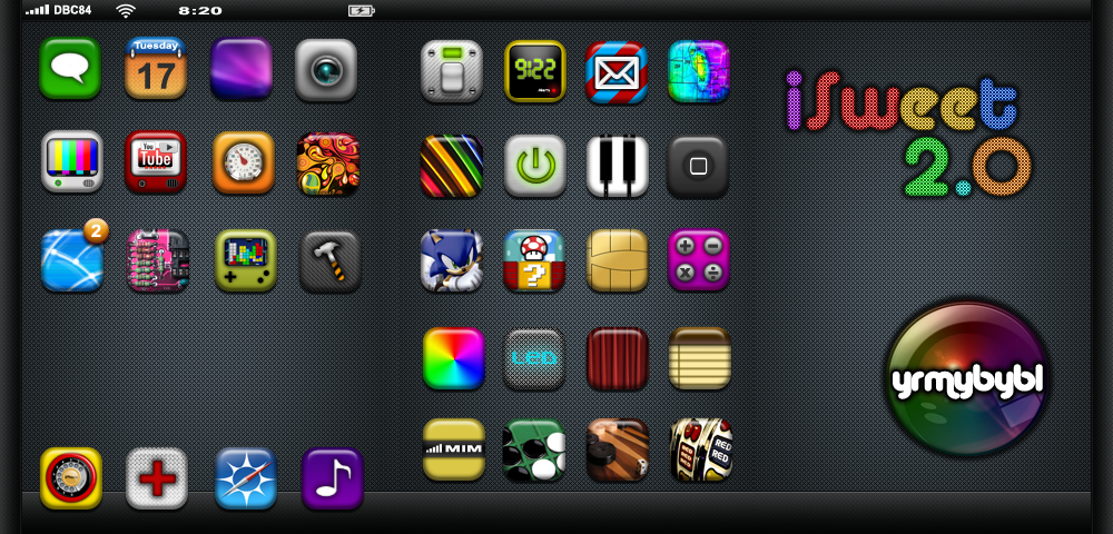 iSweet2: iPhone Theme