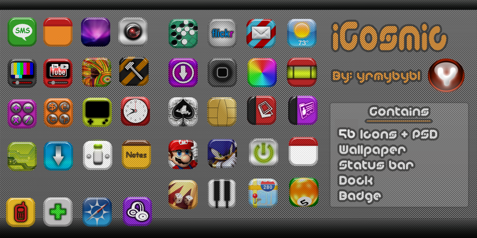 iCosmic Theme for iPhone by yrmybybl