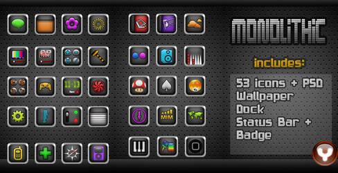 Monolithic iPhone Theme by yrmybybl