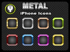Metal iPhone Icons by yrmybybl