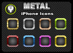 Metal iPhone Icons