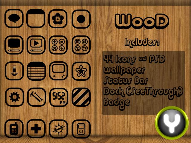 WooD iphone Theme by yrmybybl