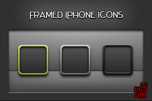 Framed iPhone Icons by yrmybybl