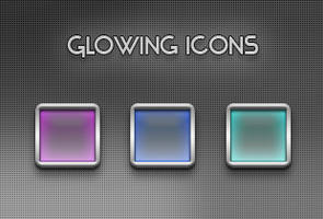 Glowing iPhone Icons by yrmybybl