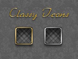 Classy iPhone Icons by yrmybybl