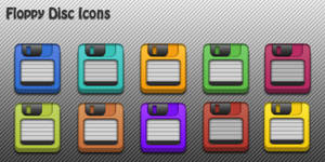 Floppy Disc Icons for iPhone